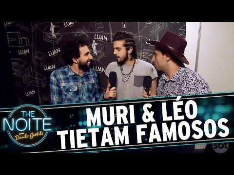 Muri & Léo tietam sertanejos famosos no Caldas Country Show| The Noite