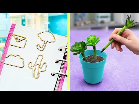15 Fun and Useful School Supplies! DIY Back to School Hacks