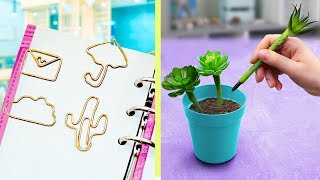 15 Fun and Useful School Supplies! DIY Back to School Hacks