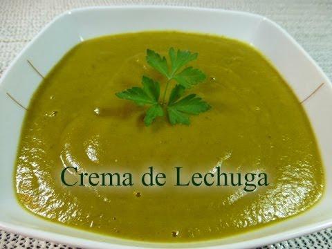 Cocinar Lechuga | Crema De Lechuga Receta Facil Y Saludable Youtube
