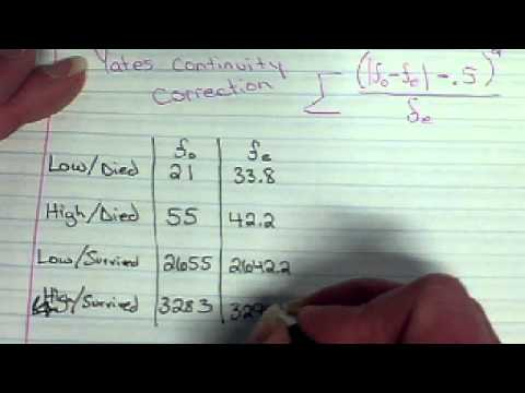 IB Math Studies - Chi-Squared Test with Yates Continuity Correction ...