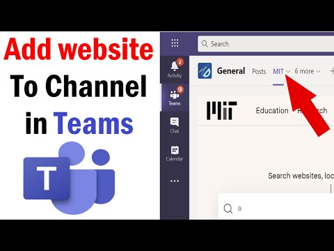 Add Website or URL to Microsoft Teams Channel | add website to Microsoft Teams | add Link to MSTeams