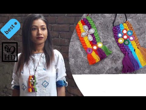 DIY | Make your own Designer Necklace | Thread | Beads | Cowrie Shell