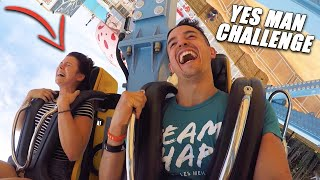 YES MAN CHALLENGE DANS UN PARC D'ATTRACTION ! (en famille) ft. @Tibo InShape