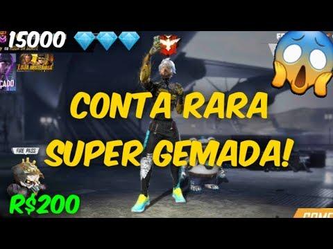 COMPREI UMA CONTA RARA POR 200 REAIS NO FREE FIRE
