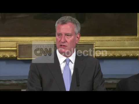 "NY:DE BLASIO ON COP KILLED-  ""LAWS NEED TO BE FIXED"""