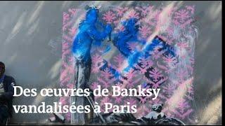 En quelques jours, certaines des nouvelles œuvres de Banksy à Paris déjà dégradées