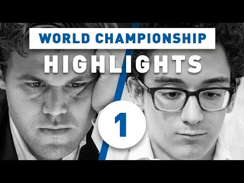 Caruana - Carlsen Game 1 Highlights World Chess Championship 2018