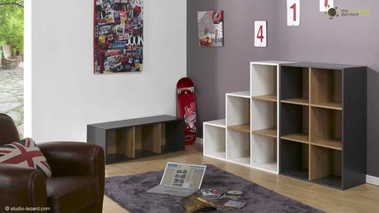 Meubles cases de rangement ma chambre d 39 enfant youtube for Meuble 4 cases ikea