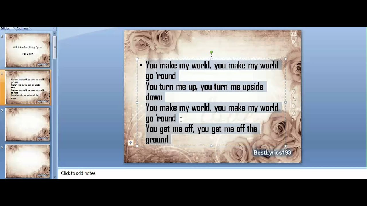 How to make a lyric video using Powerpoint! - YouTube