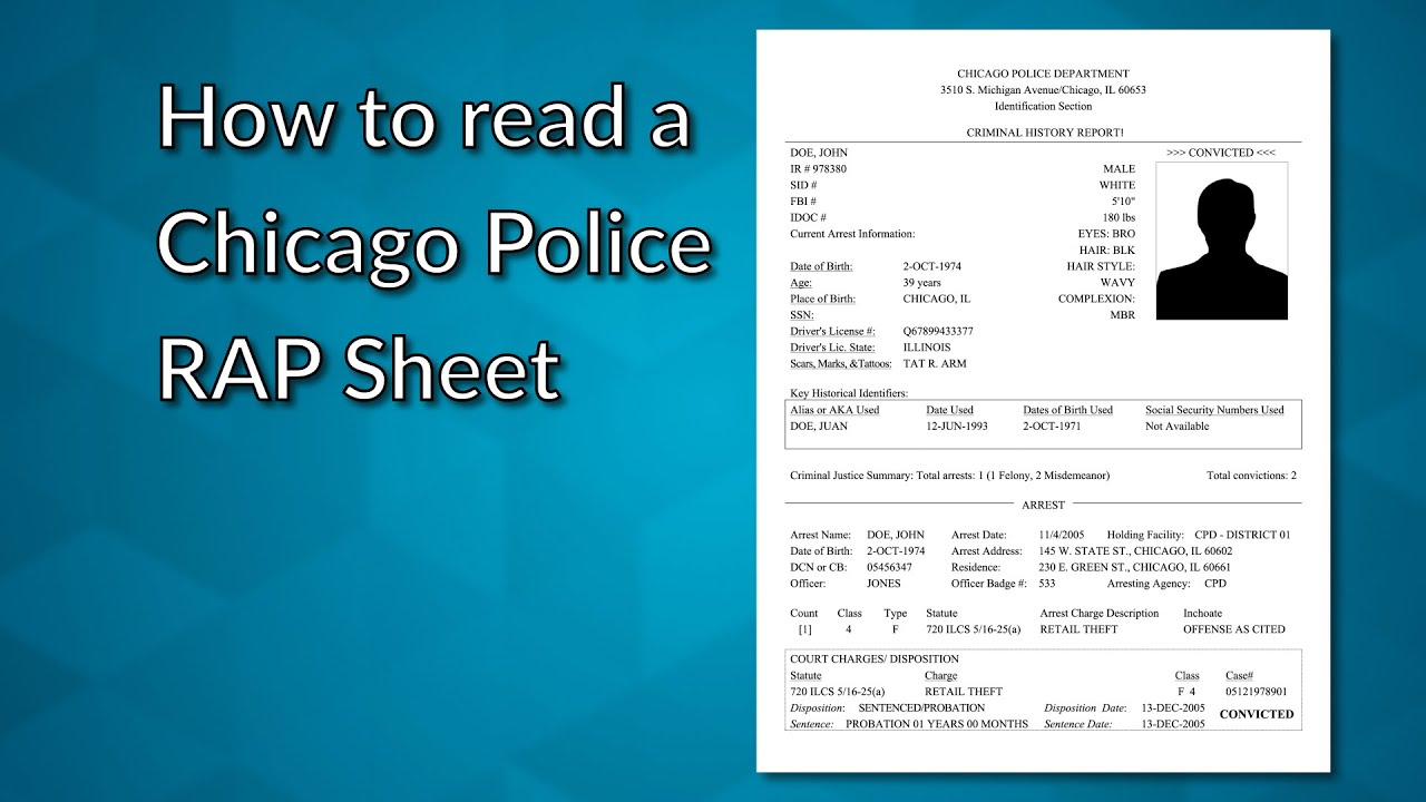How to read your Chicago RAP sheet - YouTube