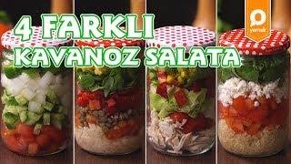 4 Farklı Kavanoz Salata - Onedio Yemek -  Tek Malzeme Çok Tarif