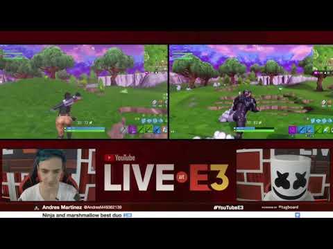 Ninja and Marshmallow get a Victory Royal at E3