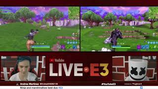 Ninja and Marshmallow get a Victory Royal at E3