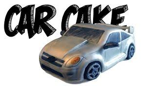 CAR CAKE TUTORIAL! How to make a realistic 3D Chevrolet Cobalt SS silver sports car cake!