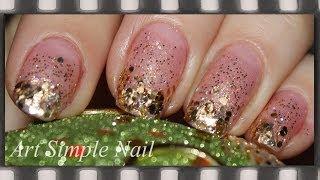 Маникюр на Рождество. Градиентный маникюр блестками | Nail Art for Christmas. Gradient Nail Art