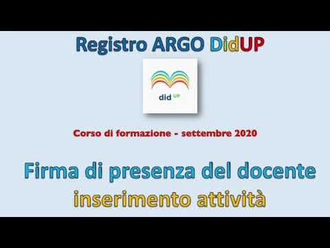 Argo DidUP 2 Firma presenza - Inserimento attività - Calendario condiviso