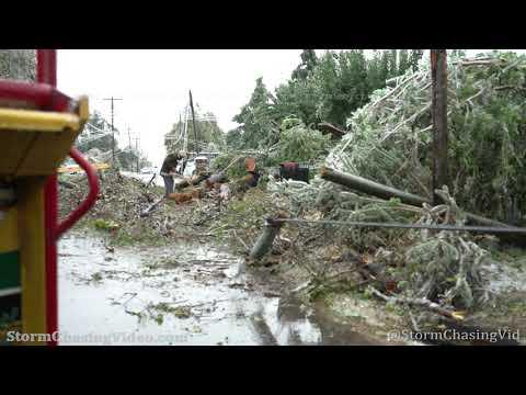 Wide Spread Ice Storm Damage, Oklahoma City, OK With Drone - 10/27/2020