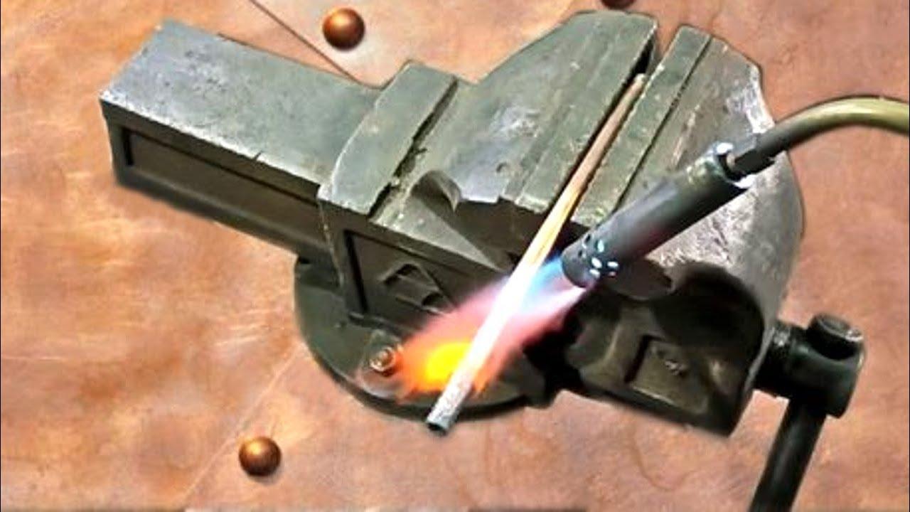 Самодельная горелка для гаража! Пайка латунью без кислорода!Homemade tools