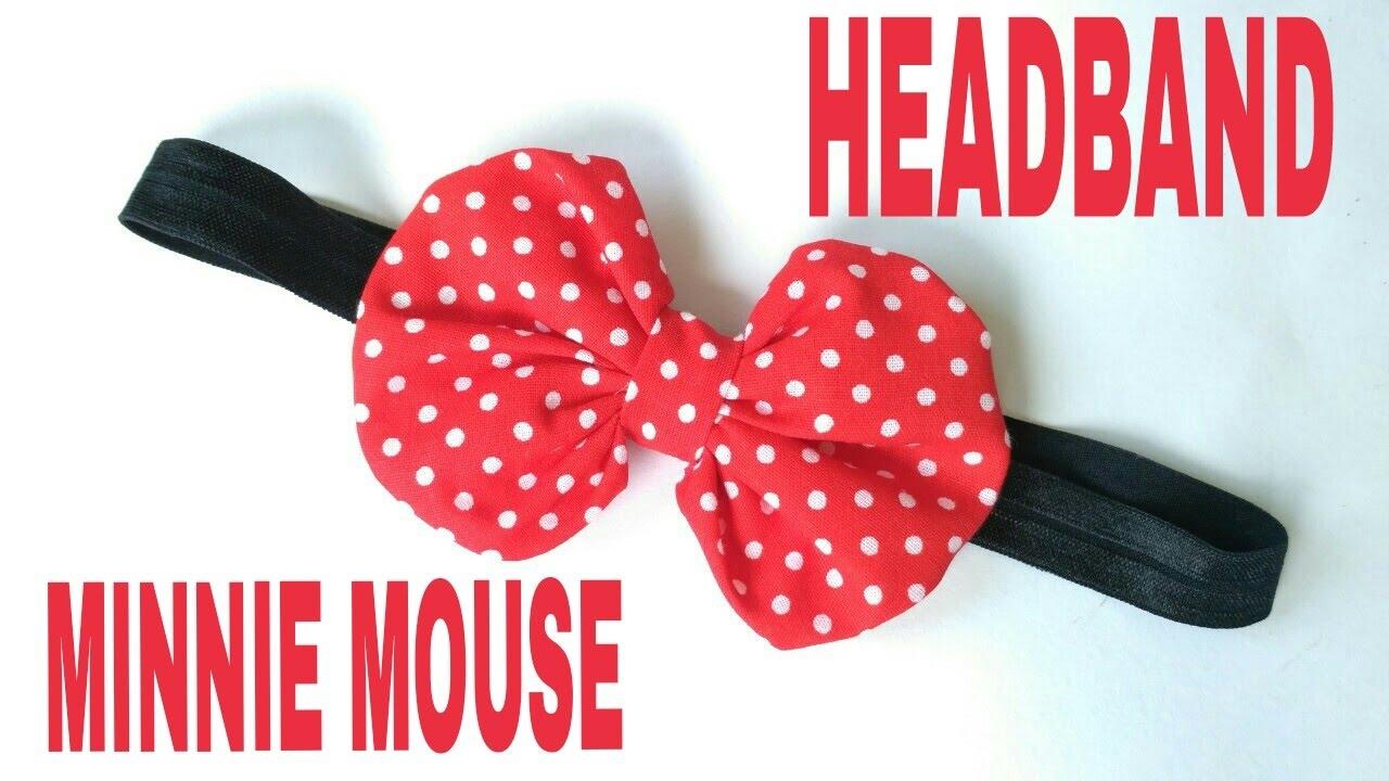 DIY Minnie Mouse Headband For Baby DIY by Elysia Handmade - YouTube acc2bea1601