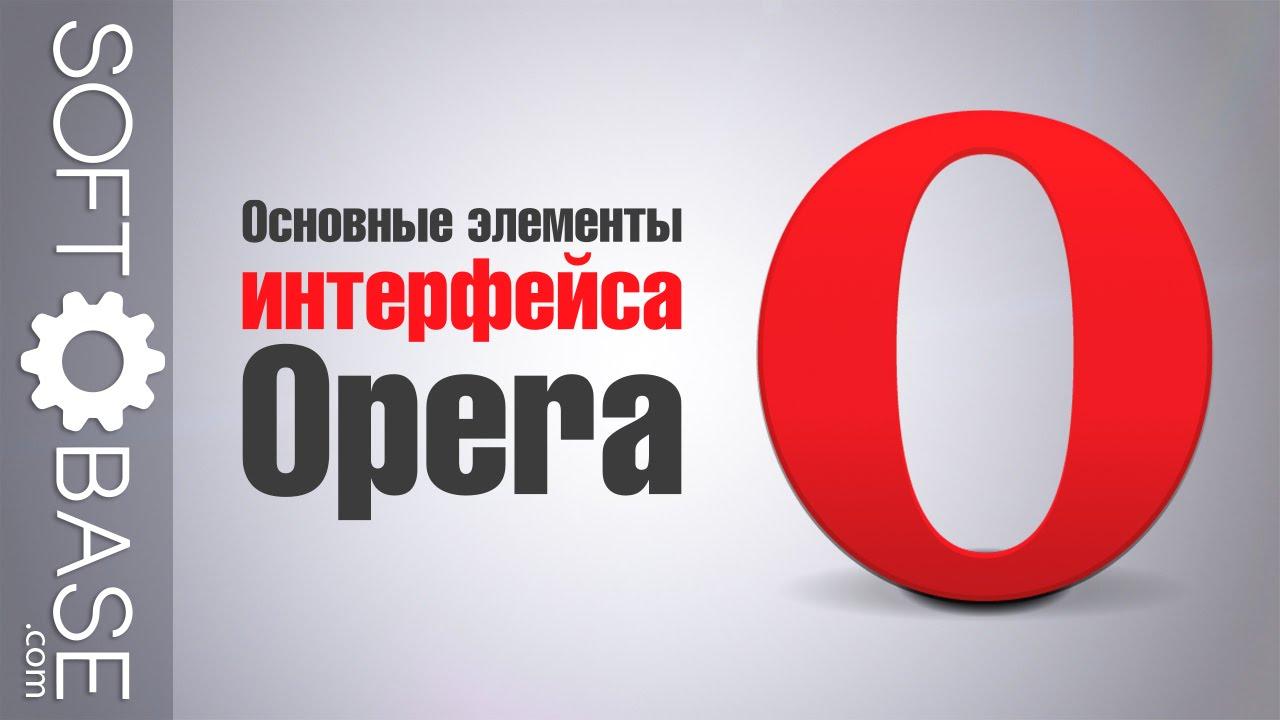 Основные элементы интерфейса Opera