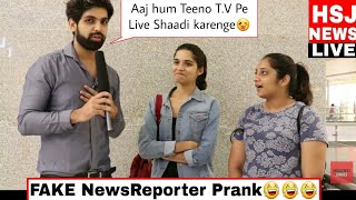 THARKI REPORTER PRANK 😜 | PRANKS IN INDIA | Fake Reporter Prank part 1