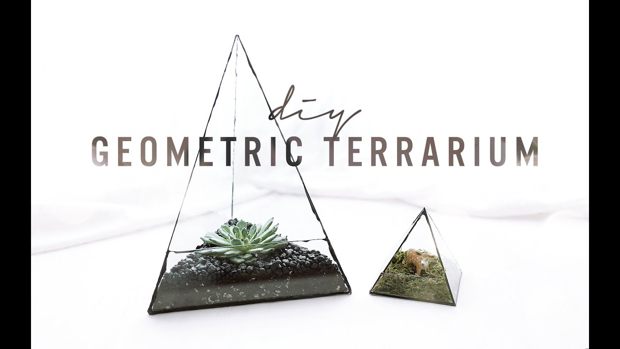 Diy Geometric Glass Terrarium The Sorry Girls Youtube