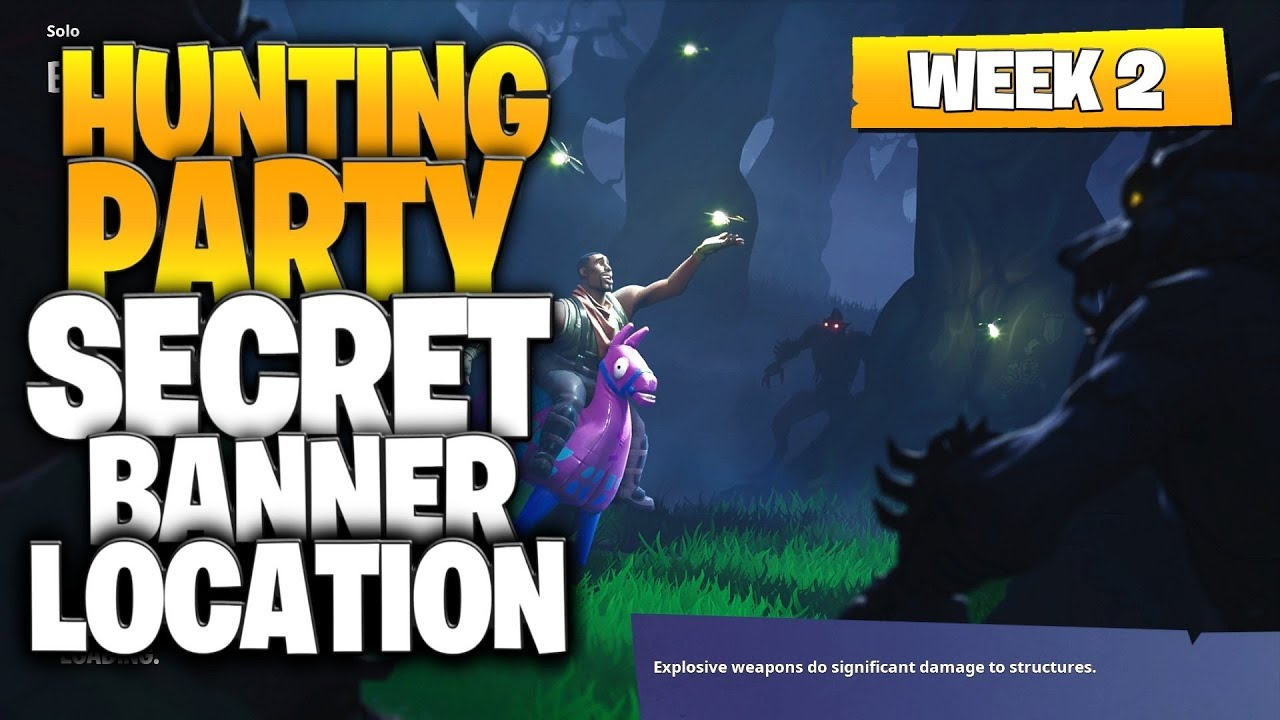 Fortnite Battle Royale Season 6 Week 2 Secret Banner Location