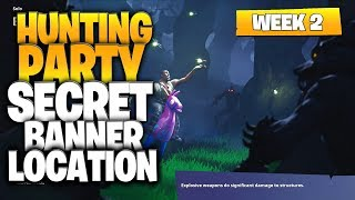 "Fortnite Battle Royale Season 6 Week 2 Secret Banner Location (""Hunting Party"" Challenges)"