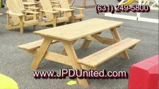 Video 30 - Wooden Picnic Benches For Sale -- Jpd United -- Wooden Outdoor Furniture