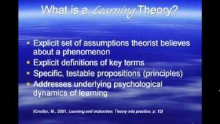 Seminar in Learning Theory Overview