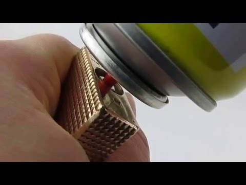 How To Refill Easy Fast and Cheap Large S. T. Dupont Ligne 1(RED CAP) from 70's with Gas