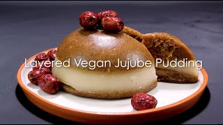 Vegan Jujube and Coconut Layered Pudding
