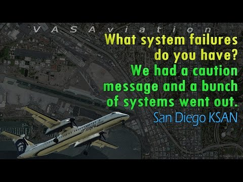 [REAL ATC] Horizon Dash-8 SEVERAL SYSTEMS OUT @SanDiego