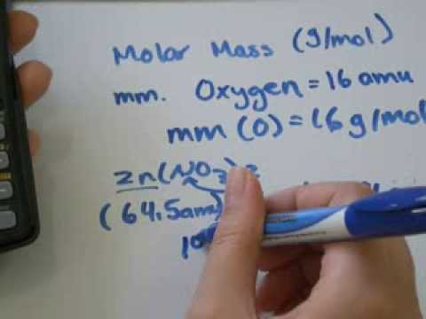 Molar Mass Examples: AMU Atomic Mass Unit
