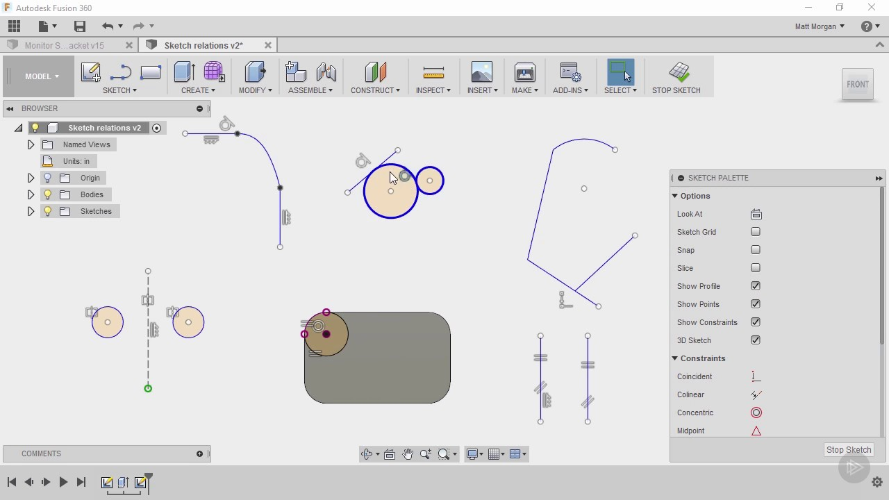 Introducing Parametric Sketching and Relations in Fusion 360