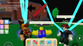 Showcasing the new power strike skill! (Power simulator) l Roblox
