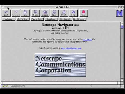 Netscape Communications Corporation Navigator Version 1.0N L