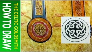 How To Draw Celtic Knots 20 - Celtic Cross (circular) From Book Of Kells 5r 1/3