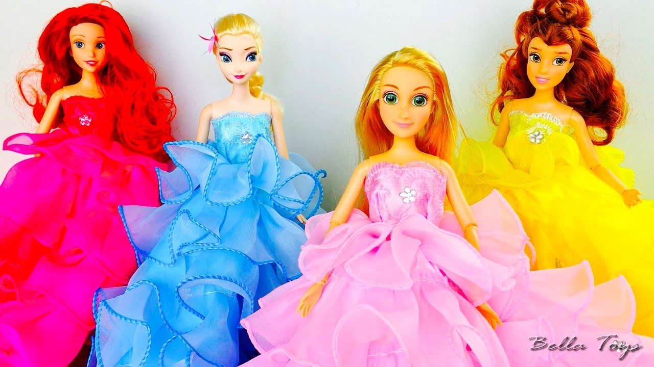 Robes princesses disney defile de mode poupees barbie - Barbie reine des neiges ...