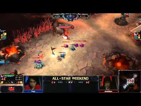 All-Star Mid Lane 1v1 tournament - Toyz (Jarvan IV) vs Ambition (Quinn and Valor)