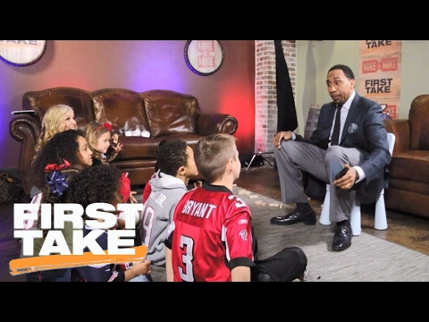 Stephen A. Smith Interviews Children Of Super Bowl LI Players | First Take | February 6, 2017