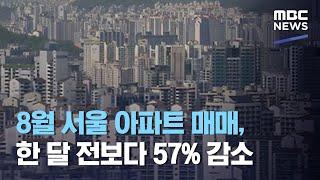 8월 서울 아파트 매매, 한 달 전보다 57% 감소 (…