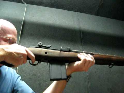 Shooting M1A rifle  308 - 20 rds & really smokes!!