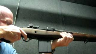 Shooting M1A rifle .308 - 20 rds & really smokes!!