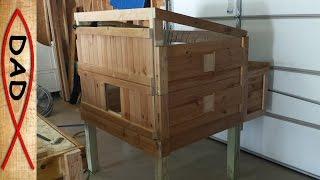 Diy Chicken Coop – Recycled Bunk Bed (part 2/3)