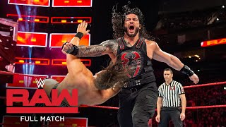 FULL MATCH - The Miz vs. Roman Reigns – Intercontinental Title Match: Raw, November 20, 2017