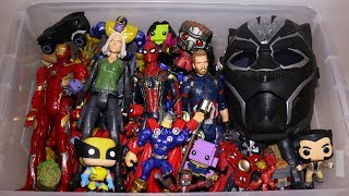 Marvel Toy Box: Avengers Action Figures, Black Panther, Spider-Man, Iron Man and More
