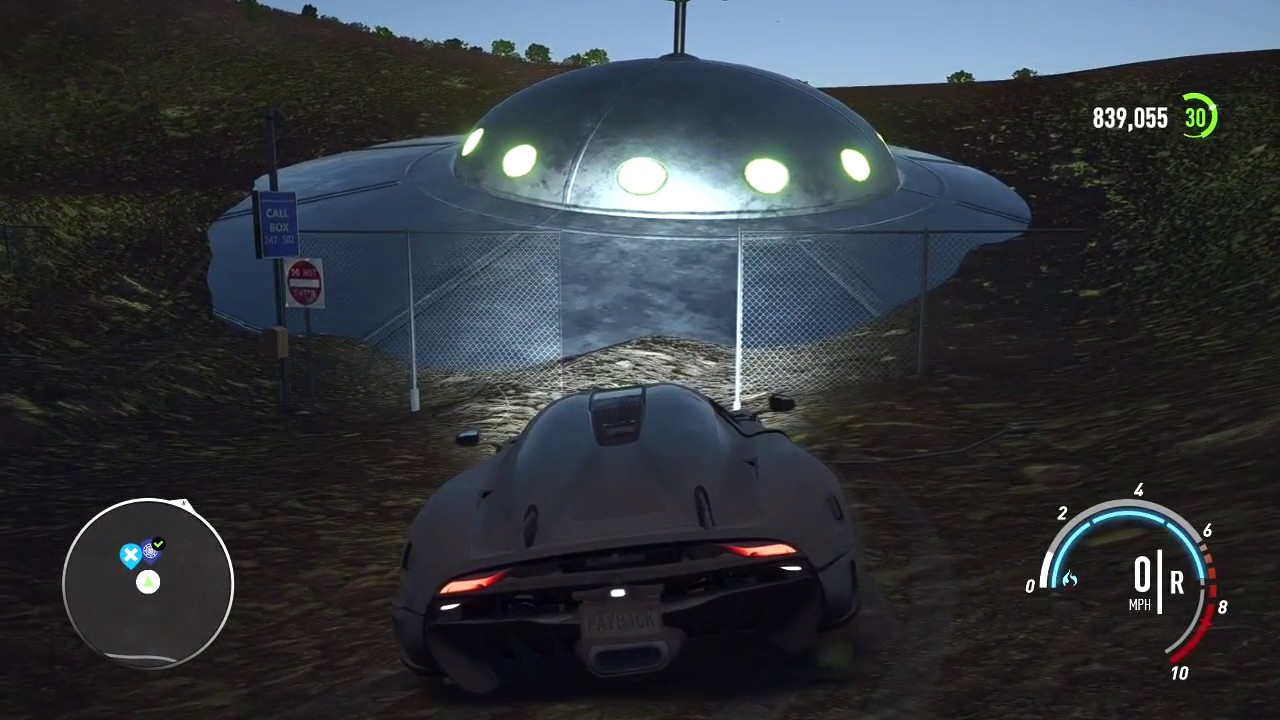 need for speed payback ps4 finding a ufo in the desert. Black Bedroom Furniture Sets. Home Design Ideas