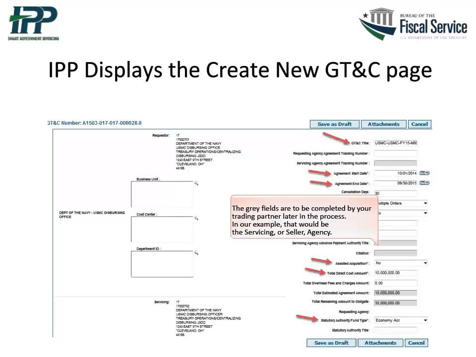46 1 Creating And Approving A Gtc In Ipp Youtube
